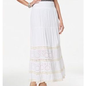 NWT Style & Co Crochet Eyelet Maxi Skirt